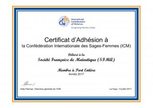 France SFMA year 2017_Certificate of Membership