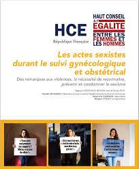 Rapport du HCE sur les « actes sexistes durant le suivi gynécologique et obstétrical »